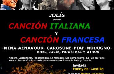 Jolís. Canción Italiana y Francesa.